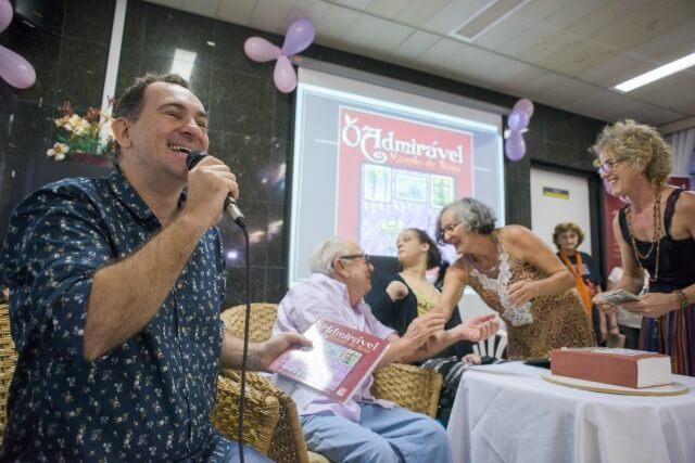 Caio Quinderé, Emiliano Queiroz, Dona Conceição e Aldenísia Santos / Foto: Davi Pinheiro