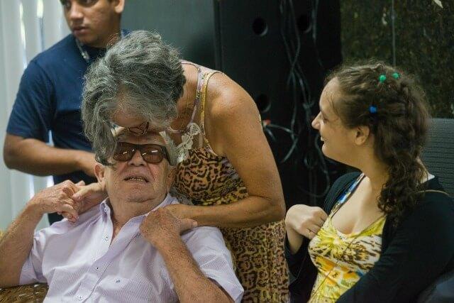Emiliano Queiroz, Dna Conceição e Aldenísia Santos / Foto: Davi Pinheiro